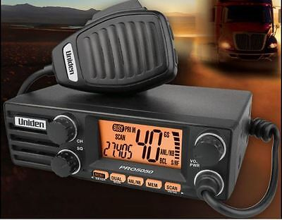 Uniden 12/24V 40CH 27MHz AM CB DIN radio -Large LCD Display with 2 Colour LCD