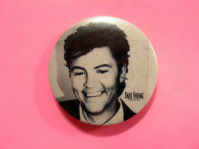 Vintage Paul Young Badge Button Pin Uk Import