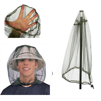 Face Travel Mosquito Camping Midge NEW Net Insect Mesh Protector Hat Head Bug