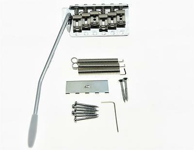 Chrome Vintage ST Strat Guitar Trem Tremolo Bridge Full Size Block Bent Saddles