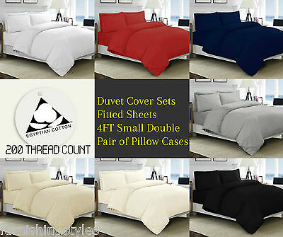 Egyptian Cotton 200 Thread Count Bedding 7 Colours All Sizes