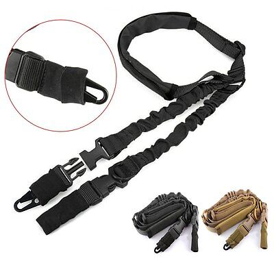 New Adjustable Quick Tactical 2 Two Point Padded Bungee Rifle Gun Sling Strap