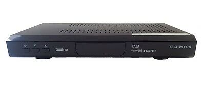 Techwood DVB665/T8300 Freeview HD TV Receiver Digital Set Top Box Black