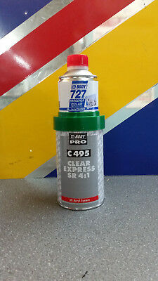 HB BODY 495 Express Smart Repair 1/2lt 2k Lacquer Kit with 727 Hardener