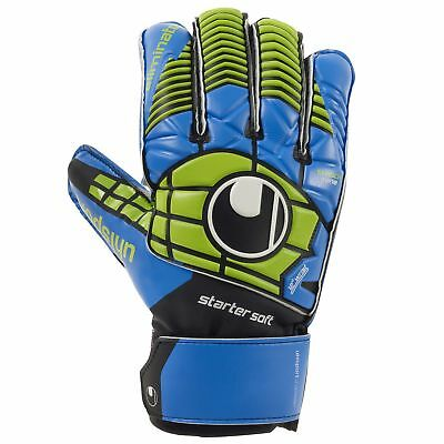 Uhlsport Eliminator Starter Soft Torwarthandschuhe Goalkeeper Gloves blau/grün