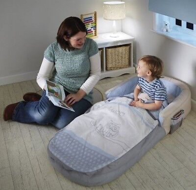 ReadyBed Sleepytime Owl Airbed And Sleeping Bag In One Camping Travel Home New