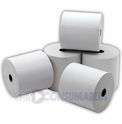5 76x76 THERMAL TILL RECEIPT ROLLS WHITE PAPER BOX OF 5 ROLLS 76 x 76 THERMAL