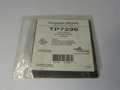 Crouse Hinds TP7296 Weatherproof Grey Two Gang Cover  NWB