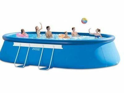 Intex 128194 Oval Frame Pool SET 610x366x122 cm Leiter Planen Pumpe Steinbach