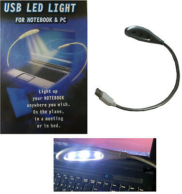 USB Lampe Licht flexibel LED Light für Notebook / Computer PC mit Schwanenhals