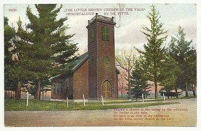 The Little Brown Church In The Vale By Dr Pitts Unposted Vintage Postcard