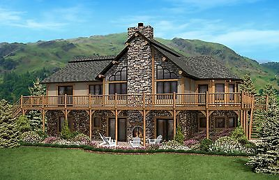 """Ranch Home Plan 1861 Sq. Ft. 1/8""""-1/4"""" Floor Plan Style Walkout Open Concept"""