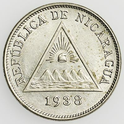 Nicaragua KM#12 1938 5 Centavos Small Uncirculated Coin [2514.19]