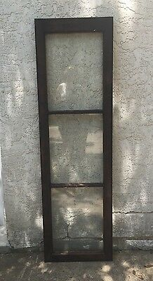 "Vtg Transom-China Cabinet Door-Side Door Lights- 60"" X 17 3/4 Solid EUC! L@@K!"