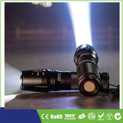 2x Police LED Flashlight Tactical 20000LM XML-T6 Zoomable Torch Lamp 5 Modes UK
