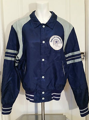 Vintage Dallas Cowboys Bomber Jacket ~ Official NFL Licensed ~ 2-toned Blue S/M