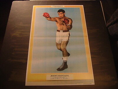 Repro1968 Boxing International Magazine Pin Up Series Poster No.3 Rocky Marciano