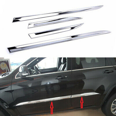 Chrome Body Side Door Molding Trim Car Exterior for JEEP Grand Cherokee 2014-16