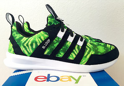 brand new 17394 e93a6 NEW ADIDAS SL LOOP RUNNER GREEN CAMO SIZE 8-13 black lime flux zx boost