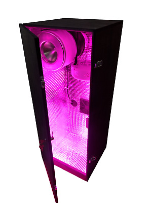 Novice Stealth Grow Cabinet Full Indoor Growing Box kit Hydroponic or soil