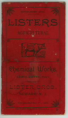 1888 Orig. Brochure- SUPER PHOSPHATE of LIME - LISTER BROTHERS - Newark NJ- 68pg