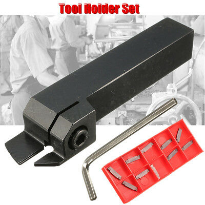 MGEHR1616 Parting Off Turning Tool Holder+10X MGMN200 Carbide Inserts Lathe Tool