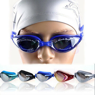 Men's Adult Non-Fogging Anti UV Swimming Goggle Glasses Adjustable Eye Protect