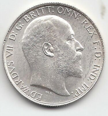 1902 King EDWARD VII Great Britain Florin 2/- Coin - Brilliant Uncirculated BU