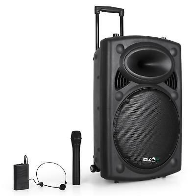 Ibiza Sound Sono Portable Amplifiee Dj Pa Haut Parleur Bluetooth 38Cm Usb Sd Mp3