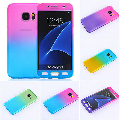 Hybrid 360° Hard Ultra thin Full Cover Case & Tempered Glass For Samsung Galaxy