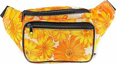 SoJourner Bags Flower Floral Fanny Pack (Yellow, Orange, White)