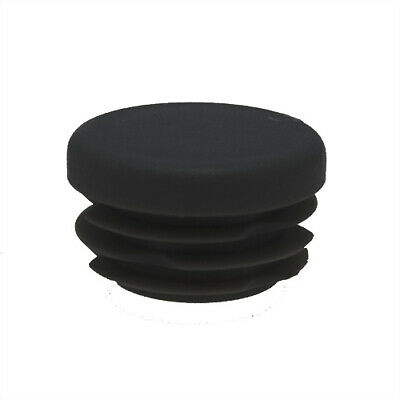 25 Pack Round Tube Inserts 15mm, 0.8-2mm Wall, Plastic Chair Feet, Tube End Caps