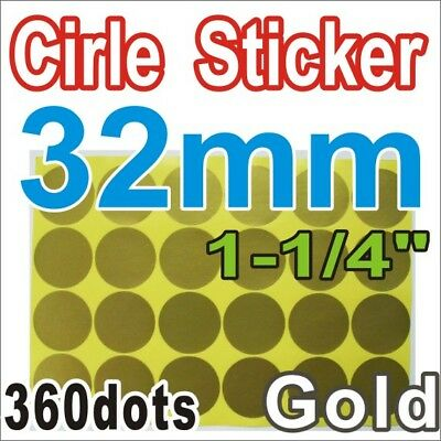 GOLD Label Sticker Circle Round Color 32mm 3.2cm 1-1/4 inch mark marking packing