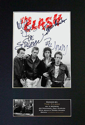 THE CLASH Signed Mounted Autograph Photo Prints A4 608