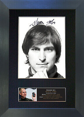 STEVE JOBS Signed Mounted Autograph Photo Prints A4 604
