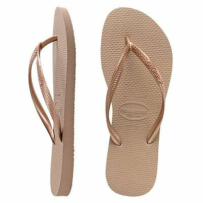 Havaianas Slim Brazil Women's Flip Flops Rose Gold All Size Sandal