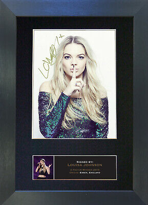LOUISA JOHNSON Signed Mounted Autograph Photo Prints A4 598