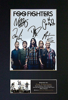 FOO FIGHTERS No2 dave grohl Signed Mounted Autograph Photo Prints A4 597