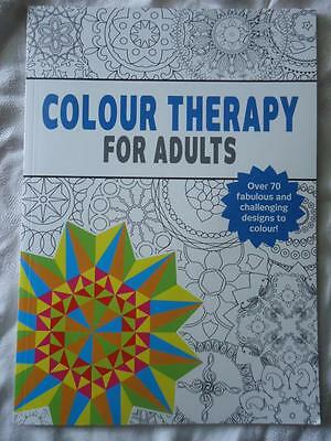 Colour Therapy For Adults  - A4 Size Colouring Book - New