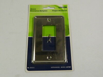Leviton 37212-BNI Nickel Decorative Wallplate  NEW