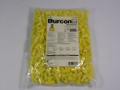 Gardner Bender 13-DYW Durcon Yellow Wire Connector 18-10AWG 500-Pack  NWB