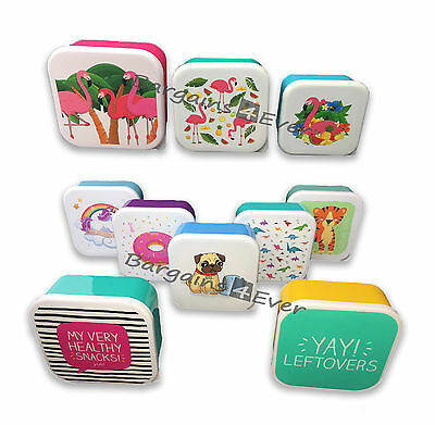 KIDS & ADULT LUNCH BOXES (SET OF 3 & 4) Great Designs!