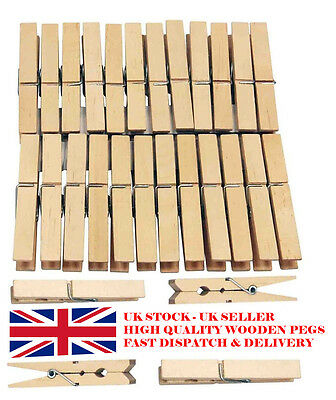 Wooden Pegs/clips For Clothes Washing Line Airer Dry Lines Indoor/outdoor Use
