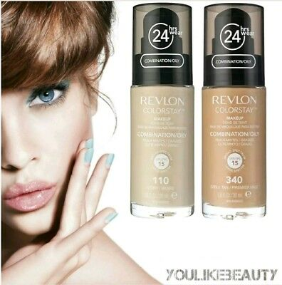 Revlon ColorStay Make Up Foundation Oily Skin MIT PUMPE 30ml Freie Farbauswahl