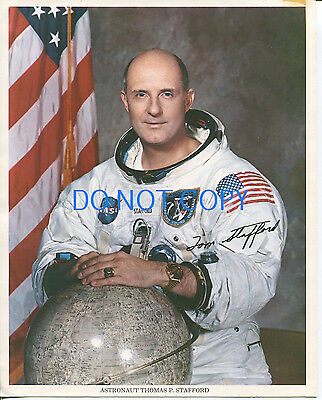Thomas Tom Stafford NASA Astronaut Apollo 10 Signed Preprint Litho Photo