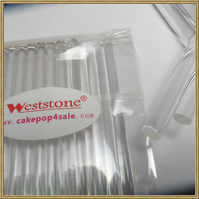 "100pcs 6"" x 5/32"" CLEAR lollipop sticks for cake pops Lollipop candy - Acrylic"
