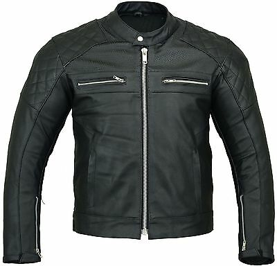 Copter Leather Motorbike Jacket Vented Motorcycle Coat with Armours