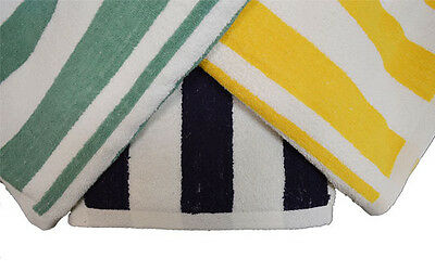 3 LARGE WHITE STRIPE HOTEL CABANA BEACH TOWELS POOL TOWEL 30x60 VALUE 3 PACK