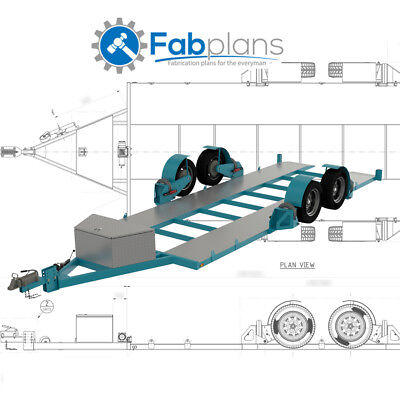 Airbag Car Trailer Plans-DIY-Build your own lowering race car trailer - A4