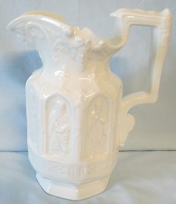 Hammersley White Embossed Bishops or Knights Milk Pitcher or Jug